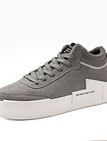 Недорогие -Муж. Комфортная обувь Полиуретан Лето Кеды Черный / Черно-белый / Серый / на открытом воздухе