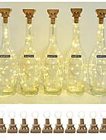 Недорогие -винные фонари loende с пробкой на солнечной батарее 2м 20 светодиодные пробковые фонари для бутылки 12 упак.