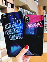 Недорогие -Кейс для Назначение Apple iPhone XS / iPhone XR / iPhone XS Max Ультратонкий / С узором Кейс на заднюю панель Слова / выражения ТПУ