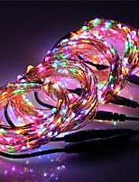 Недорогие -инженерное качество 20м рождественские гирлянды 200 светодиодов теплый белый / RGB / белый / синий / уличный водонепроницаемый звездное освещение новый дизайн / партия DC12 V 5шт