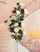 Недорогие -Искусственные Цветы 2 Филиал Односпальный комплект (Ш 150 x Д 200 см) С креплением на стену подвешенный Деревня Простой стиль Pастений Цветы на стену