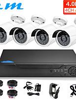 Недорогие -4ch AHD коаксиальный 4 миллиона HD монитор установлен видеорегистратор аналоговая камера телефон пульт дистанционного управления