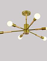 Недорогие -JSGYlights 6-Light Линейные Потолочные светильники Рассеянное освещение Окрашенные отделки Дерево Металл Новый дизайн 110-120Вольт / 220-240Вольт
