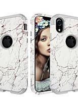 Недорогие -Кейс для Назначение Apple iPhone XS / iPhone XR / iPhone XS Max Защита от удара Кейс на заднюю панель Мрамор / Градиент цвета ПК / силикагель