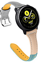 Недорогие -22 мм ремешок из натуральной кожи для ремешка для часов Ticwatch Pro браслет ремешок Ticwatch S2 / Ticwatch E2 классический пряжка ремешок