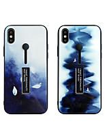 Недорогие -чехол для яблока iphone xs max / iphone 8 plus пылезащитный / с подставкой для задней крышки цветовой градиент ТПУ / закаленное стекло для iphone 7/7 plus / 8/6/6 plus / xr / x / xs