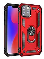 Недорогие -чехол для apple iphone 8 plus / iphone 7 plus / iphone 6s plus противоударный / с подставкой / держателем кольца задняя крышка броня искусственная кожа