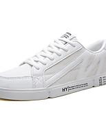 Недорогие -Муж. Комфортная обувь Полиуретан Лето Кеды Черный / Белый / Бежевый / на открытом воздухе