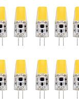 Недорогие -10 шт. 4 W Двухштырьковые LED лампы 400 lm G4 T 1 Светодиодные бусины COB Новый дизайн Тёплый белый Белый 12 V