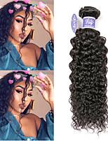 Недорогие -3 Связки Индийские волосы Естественные прямые Необработанные натуральные волосы 100% Remy Hair Weave Bundles Человека ткет Волосы Удлинитель Пучок волос 8-28 дюймовый Естественный цвет