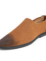 Недорогие -Муж. Комфортная обувь Замша Лето Деловые Мокасины и Свитер Черный / Коричневый / Синий