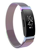 Недорогие -Ремешок для часов для Fitbit Inspire Fitbit Миланский ремешок силиконовый Повязка на запястье