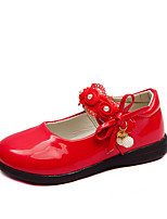 Недорогие -Девочки Детская праздничная обувь Полиуретан На плокой подошве Маленькие дети (4-7 лет) / Большие дети (7 лет +) Черный / Красный / Розовый Весна / Осень