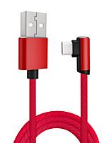 Недорогие -Type-C Кабель 1.0m (3FT) Высокая скорость / Быстрая зарядка / OTG TPE Адаптер USB-кабеля Назначение Samsung / Huawei / Xiaomi