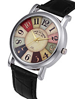Недорогие -Муж. Спортивные часы Кварцевый Кожа Черный / Коричневый 30 m Секундомер Творчество Светящийся Аналоговый На каждый день Мода - Черный Коричневый Два года Срок службы батареи