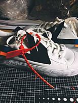 Недорогие -Муж. Комфортная обувь Полотно Лето Кеды Дышащий Черно-белый / Красный