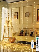 Недорогие -3 * 3 м Наборы ламп / Гирлянды 300 светодиоды SMD 0603 1 пульт дистанционного управления Keys Тёплый белый / Белый / Разные цвета Водонепроницаемый / USB / Декоративная 5 V 1 комплект
