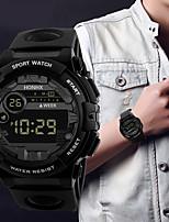 Недорогие -Муж. Спортивные часы Японский Цифровой Черный 30 m Секундомер Светящийся Новый дизайн Цифровой На открытом воздухе Новое поступление - Черный Черный / Синий Черный / Красный / Два года
