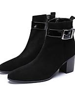 Недорогие -Муж. Обувь для новинок Замша Весна лето / Наступила зима Английский Ботинки Высота возрастающей Ботинки Черный / Для вечеринки / ужина