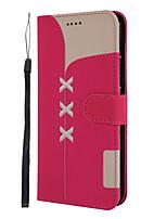 Недорогие -Кейс для Назначение Xiaomi Xiaomi Redmi 6 Pro / Redmi Note 7 / Redmi Note 6 Pro Кошелек / Бумажник для карт / со стендом Чехол Однотонный Кожа PU