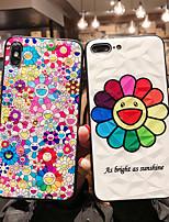 Недорогие -Кейс для Назначение Apple iPhone XS / iPhone XR / iPhone XS Max Ультратонкий / С узором Кейс на заднюю панель Мультипликация / Цветы ТПУ / ПК