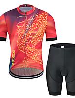 Недорогие -MUBODO Дракон Муж. С короткими рукавами Велокофты и велошорты - Черный / красный Велоспорт Наборы одежды Дышащий Влагоотводящие Быстровысыхающий Виды спорта Тюль Горные велосипеды Шоссейные велосипеды