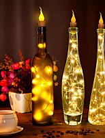 Недорогие -1m Гирлянды 10 светодиоды Тёплый белый / RGB / Белый Очаровательный / Творчество / Для вечеринок Аккумуляторы 10 шт.