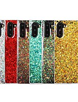 Недорогие -Кейс для Назначение SSamsung Galaxy Note 9 / Galaxy Note 10 / Galaxy Note 10 Plus Защита от удара Кейс на заднюю панель Сияние и блеск ТПУ
