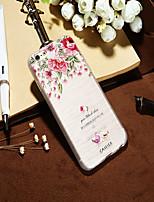 Недорогие -Кейс для Назначение Apple iPhone XS / iPhone XR / iPhone XS Max Защита от пыли / Ультратонкий / Полупрозрачный Кейс на заднюю панель Цветы ТПУ