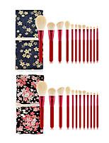 Недорогие -профессиональный Кисти для макияжа 12шт Мягкость Новый дизайн Закрытая чашечка Милый удобный Деревянные / бамбуковые за