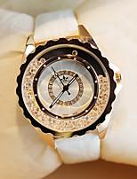 Недорогие -электронные часы Кварцевый Кожа Белый С гравировкой Аналоговый Мода - Белый