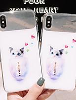 Недорогие -Кейс для Назначение Apple iPhone XS / iPhone XR / iPhone XS Max Зеркальная поверхность / Ультратонкий / С узором Кейс на заднюю панель Кот / Мультипликация ТПУ / ПК