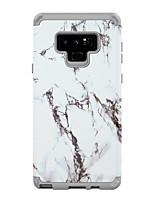 Недорогие -Кейс для Назначение SSamsung Galaxy Note 9 Защита от удара Кейс на заднюю панель Полосы / волосы / Мрамор ПК