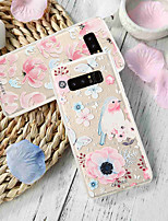 Недорогие -чехол для samsung galaxy s9 / s8 plus пыленепроницаемый / ультратонкий / полупрозрачный задняя крышка цветок мягкое тпу / непромокаемый / персонализированный модный тиснение мягкий чехол для телефона