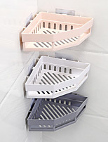 Недорогие -1шт угловой держатель для полки для ванной комнаты держатель для шампуня кухонная стойка для хранения органайзер настенный держатель полки для ванной комнаты оснастки
