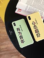 Недорогие -Кейс для Назначение Vivo VIVO Y85 / VIVO Y71 / VIVO Y79 Ультратонкий / С узором Кейс на заднюю панель Слова / выражения ТПУ