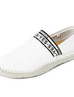 Недорогие -Муж. Комфортная обувь Микроволокно Лето Мокасины и Свитер Черный / Коричневый / Белый
