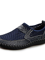 Недорогие -Муж. Комфортная обувь Кожа / Сетка Лето Мокасины и Свитер Черный / Зеленый / Синий