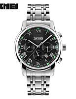 Недорогие -Skmei 9121 кварцевые наручные часы мужчины металлическая сетка из нержавеющей стали водонепроницаемый полный календарь часы