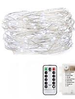 Недорогие -Loende сказочные огни 5 м 50 светодиодные батареи с дистанционным управлением таймер водонепроницаемый медный провод мерцание огней строки для спальни в помещении на открытом воздухе свадебный