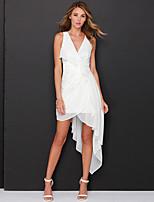 Недорогие -А-силуэт Y-образный вырез Асимметричное Полиэстер Платье с Слои юбки от LAN TING Express