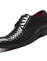 cheap -Men's Formal Shoes Faux Leather Spring & Summer / Fall & Winter Business / Casual Oxfords Breathable Black / Brown / Wine