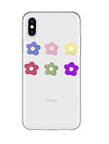 Недорогие -чехол для iphone x xs max xr xs задняя крышка мягкий чехол тпу новый рисунок мультфильм цветок мягкий тпу для iphone5 5s se 6 6p 6s sp 7 7p 8 8p16 * 8 * 1