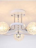 Недорогие -современная люстра полу скрытого монтажа потолочный рассеянный свет 3 светильника с гальваническим покрытием окрашены металлические подвесные светильники для гостиной спальни