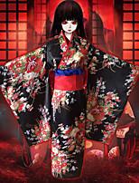 Недорогие -Вдохновлен Адская девочка Enma Ai Аниме Косплэй костюмы Японский Косплей Костюмы лук / кимоно Пальто / Пояс / лента Назначение Жен.