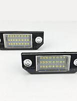 Недорогие -2 шт. / Компл. Светодиодный свет номерного знака для Ford Focus C-Max MK2 03-08