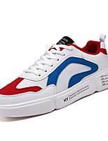 Недорогие -Муж. Комфортная обувь Полиуретан Весна / Осень На каждый день Кеды Для прогулок Дышащий Контрастных цветов Черный / Белый / Серый