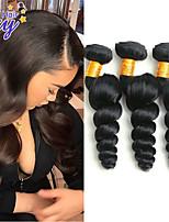 Недорогие -3 Связки Малазийские волосы Свободные волны человеческие волосы Remy 100% Remy Hair Weave Bundles Человека ткет Волосы Удлинитель Пучок волос 8-28 дюймовый Нейтральный Ткет человеческих волос