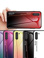 Недорогие -Чехол с градиентным закаленным стеклом для Samsung Galaxy Note 10 Note 10 Pro Note 9 Примечание 8 Защитная крышка Fundas Tpu Edge