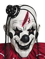 Недорогие -ужасно страшно маска клоуна взрослые мужчины латекс белые волосы хэллоуин